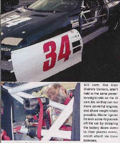 Alan Blane and his 1994 AIX Camaro in Hot Rod Magazine